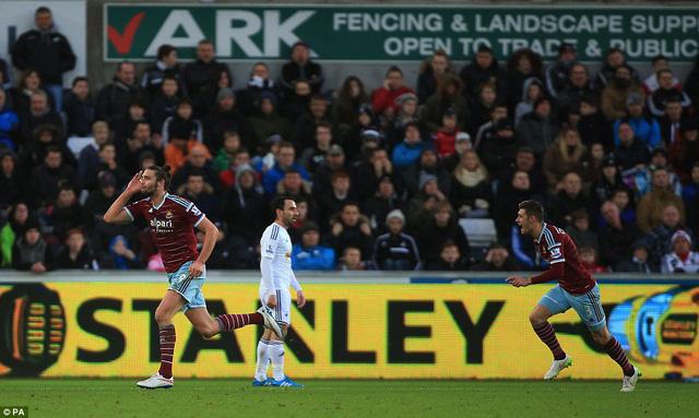 Bàn thắng của Andy Carroll đẹp nhất vòng đấu 21 Ngoại hạng Anh