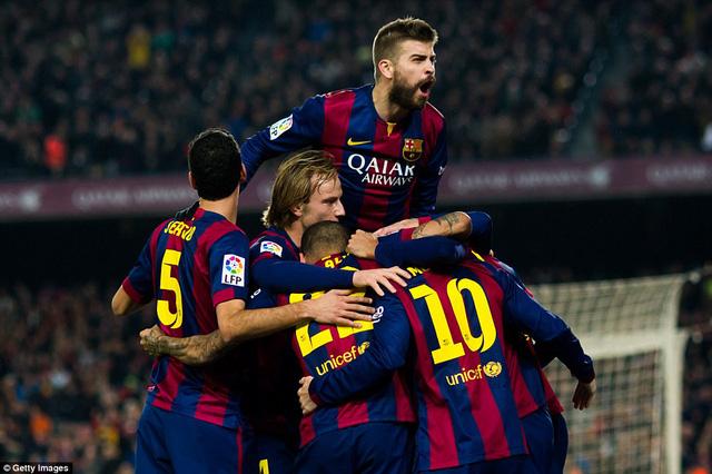 Barcelona có chiến thắng thuyết phục trước Atletico Madrid