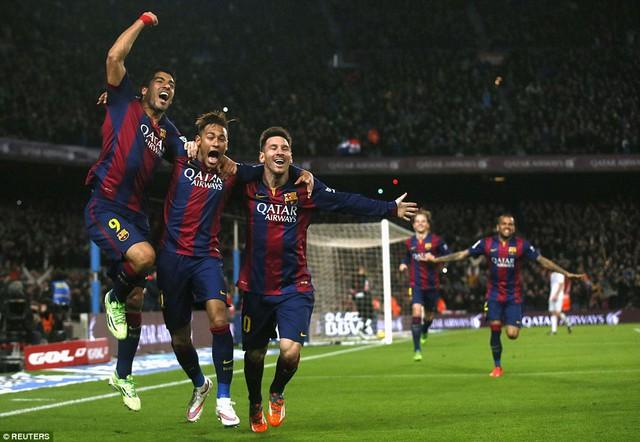 Bộ ba Messi – Neymar – Suarez  đang liên tục ghi bàn trong những trận đấu gần đây