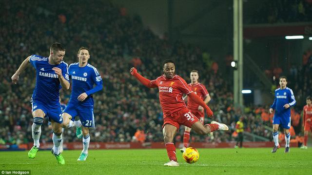 Raheem Sterling gỡ hòa cho Liverpool ở phút 56