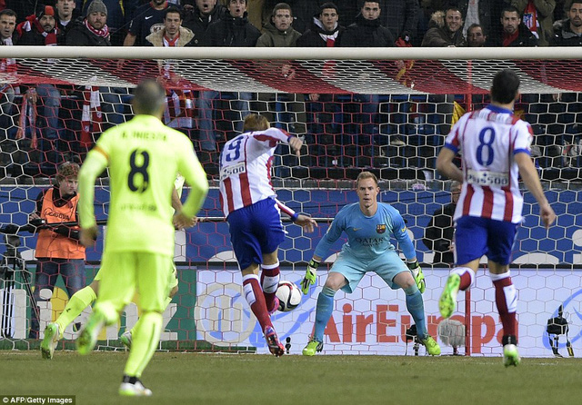 Fernando Torres mở tỷ số cho Atletico Madrid  ngay phút thứ 1