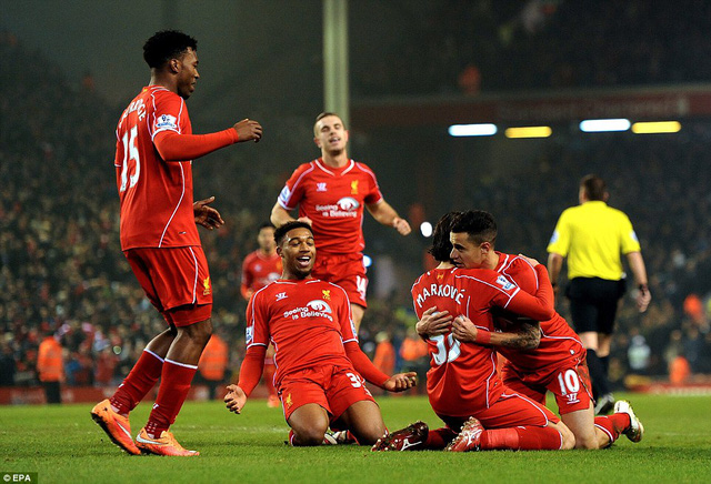 Liverpool có chiến thắng kịch tích 3-2 trước Tottenham