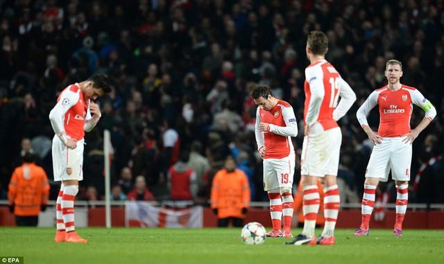 Arsenal vừa hưng chịu thất bại nhục nhã nhất sau 17 năm liên tiếp tham dự Champions League
