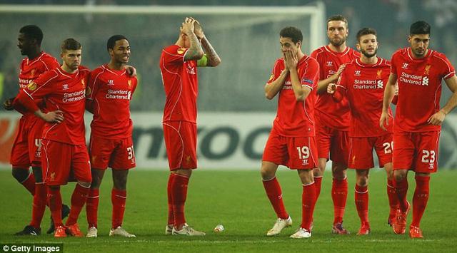 Liverppol đã chính thức bị loại khỏi Europa League