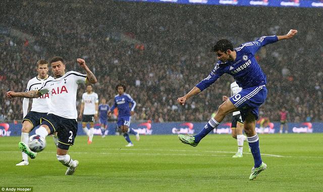 Được triển khai lối chơi sở trường, sức mạnh của Chelsea càng được nhân lên gấp bội. Phút 56, Diego Costa nâng tỷ số lên 2-0 cho The Blues sau cú dứt điểm đập chân Kyle Walker.
