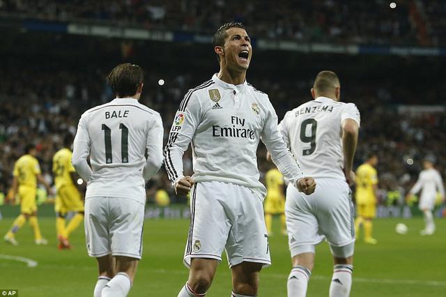 Cris Ronaldo mở tỷ số cho Real Madrid từ chấm phạt đền ở phút 52