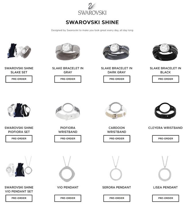 Các phụ kiện đi kèm Swarovski Shine