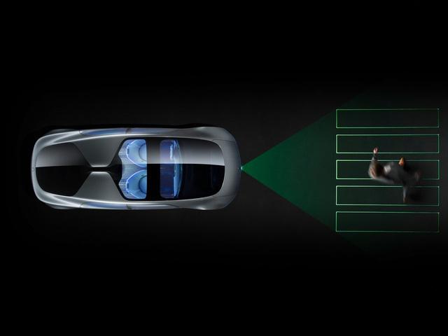 Hệ thống đèn pha Laser cho phép xe giao tiếp với người đi bộ qua đường