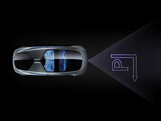 Hệ thống đèn pha Laser báo hiệu cho các phương tiện khác khi xe rẽ