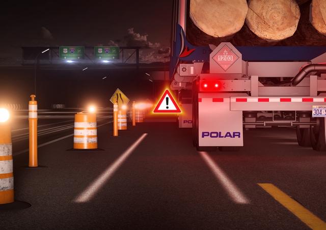 Đối với các đoạn đường hẹp, hệ thống đèn sẽ tạo ra 2 vệt sáng mô phỏng chiều rộng thực tế của xe để người lái xác định khoảng cách dễ dàng
