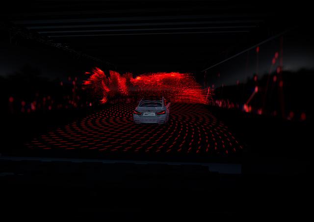 High Power Light chiếu các thông tin lên mặt đường