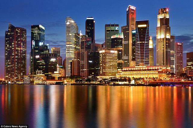Singapore trong bức ảnh này không khỏi khiến người xem trầm trồ