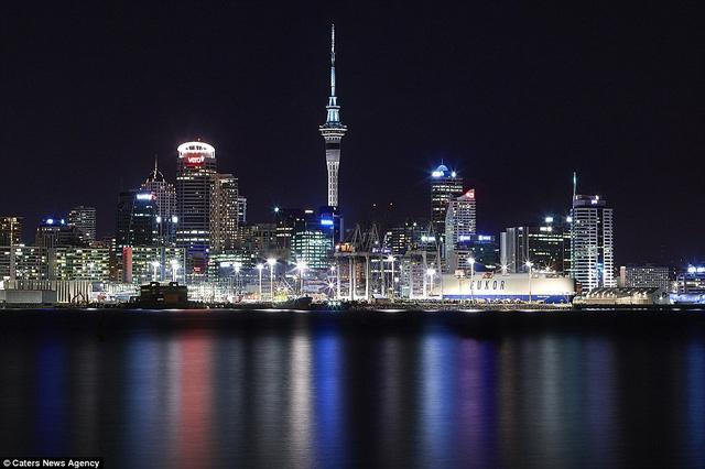 Thành phố Auckland, New Zealand lung linh về đêm