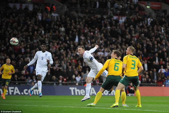 Rooney ghi bàn ở ngay phút thứ 7