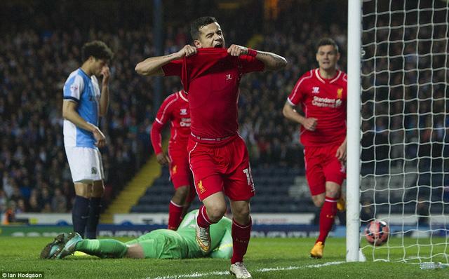 Philippe Coutinho ghi bàn thắng duy nhất giúp Liverpool vào bán kết FA Cup