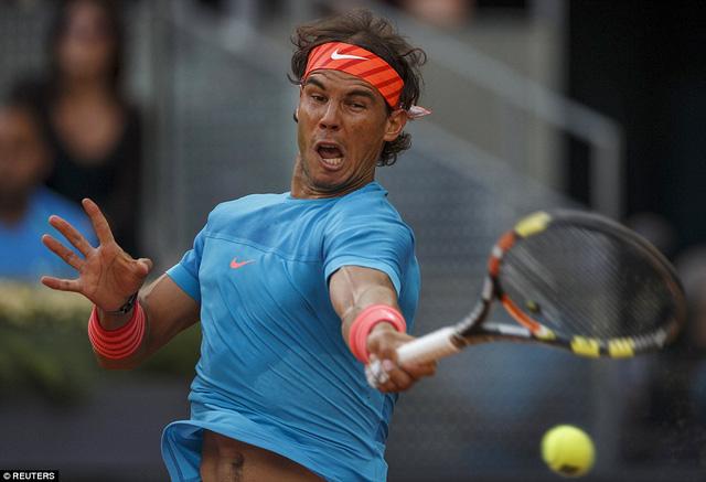 Ông vua mặt sân đất nện Rafael Nadal tiếp tục gây thất vọng