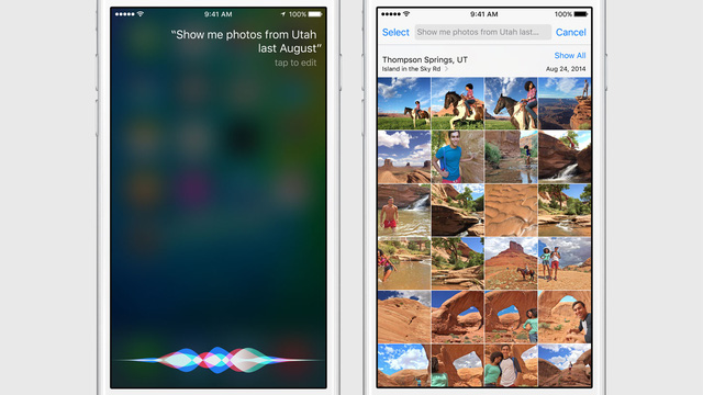 Giao diện mới của Siri
