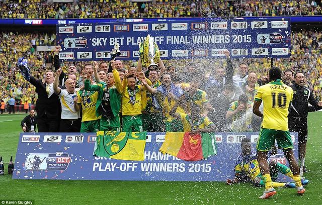 Hạ Middlesbrough trong trận tranh vé vớt thăng hạng tại Wembley, Norwich đã trở thành đội bóng thứ 3 lên chơi tại Premier League mùa giải tới.