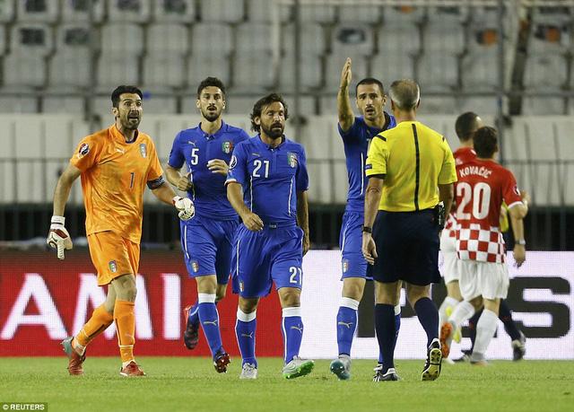 Italy bị cầm hòa trên sân của Croatia