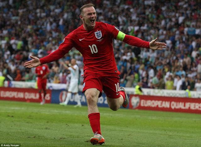 Wayne Rooney ấn định chiến thắng 3-2 cho đội tuyển Anh vào phút thứ 84