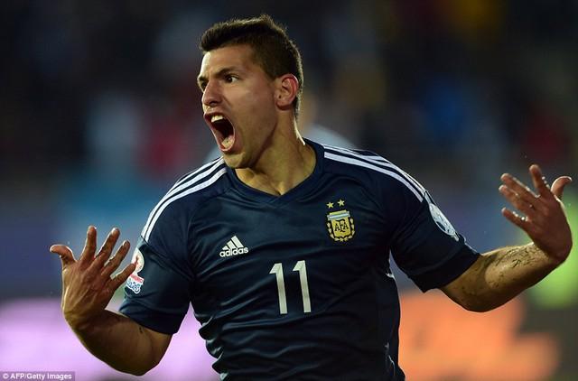 Sergio Aguero tỏa sáng để mang về chiến thắng tối thiểu cho Argentina