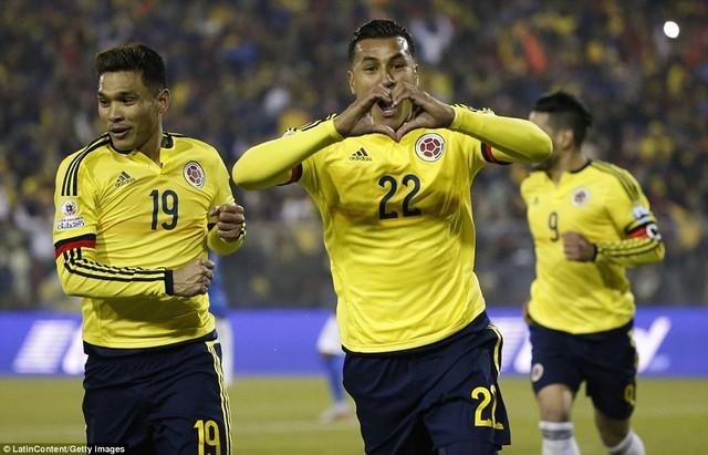 Bàn thắng duy nhất của Jeison Murillo  mang về chiến thắng cho Colombia