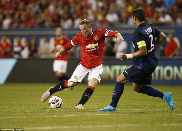 Rooney cùng các đồng đội hoàn toàn bế tắc trước PSG