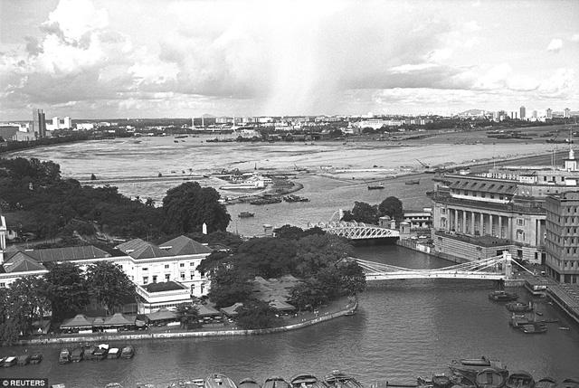 Cửa sông Singapore trong một bức ảnh chụp tháng 10/1976.
