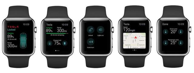 Ứng dụng này cho phép Apple Watch hiển thị các thông tin của xe