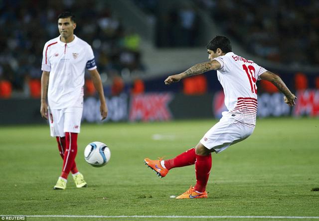 Ever Banega mở tỷ số cho Sevilla ở ngay phút thứ 3