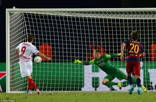 Sự chủ quan đã khiến Barcelona để Sevilla gỡ hòa 4-4