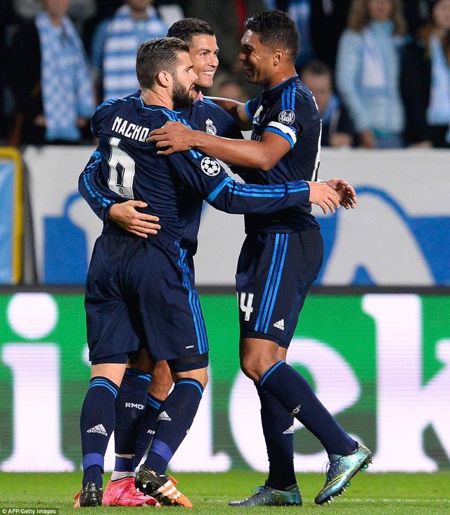 Ronaldo đã cân bằng kỷ lục ghi 501 bàn thắng của Raul