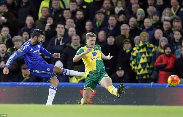Bàn thắng duy nhất của Diego Costa đã mang về 3 điểm cho Chelsea.