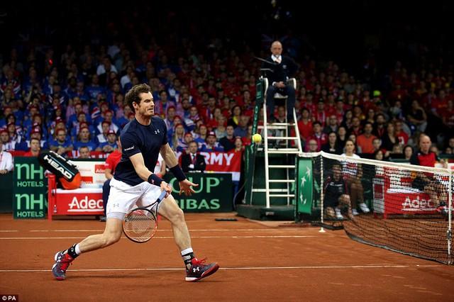 Andy Murray đã thắng 3 trận liên tiếp trước các tay vợt chủ nhà Bỉ