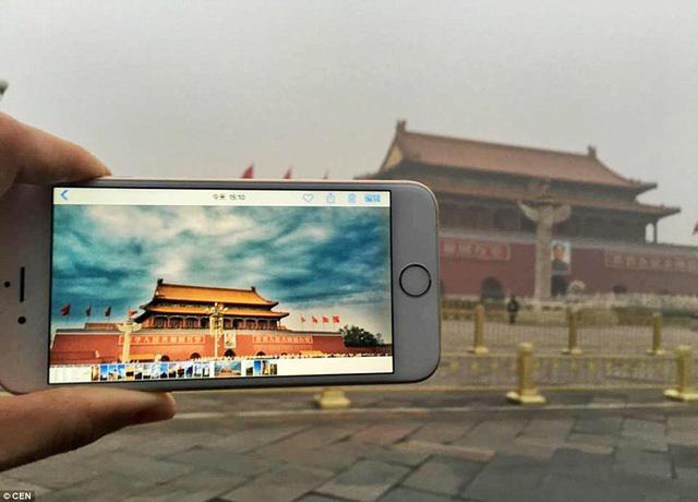Quảng trường Thiên An Môn, một trong những địa danh nổi tiếng nhất của Trung Quốc thời kỳ phong kiến, chịu ảnh hưởng nặng nề bởi ô nhiễm không khí