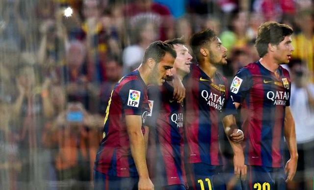 Barcelona 6-0 Granada: Ở vòng 6, cú hat-trick của Neymar, cú đúp của Messi và bàn thắng của Rakitic đã nhấn chìm các vị khách yếu bóng vía.