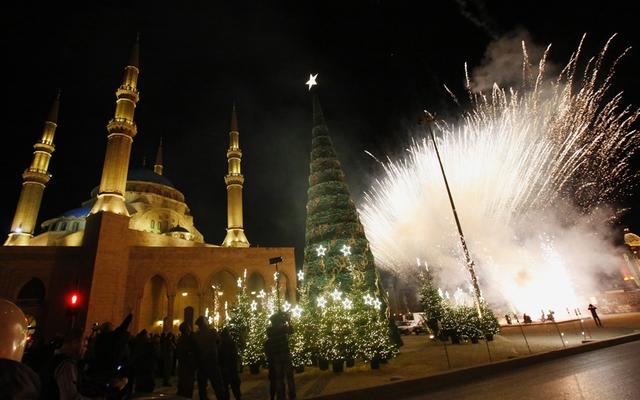 Giáng sinh tưng bừng tại Beirut, Lebanon.
