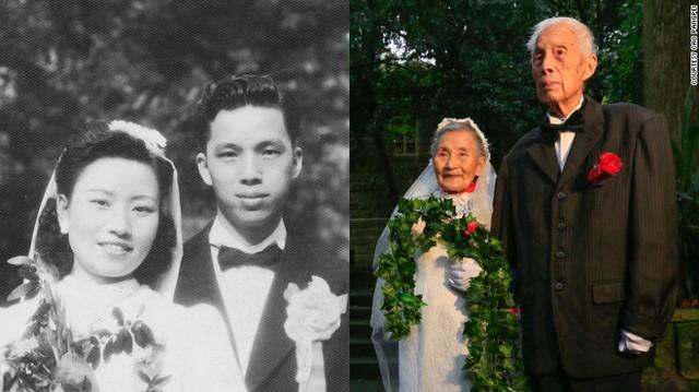Cụ Wang (98 tuổi) và cụ Cao (97 tuổi) tổ chức lại đám cưới.