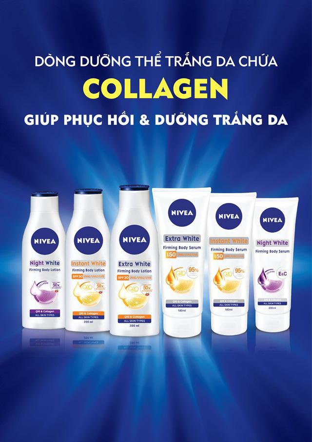 Dòng sản phẩm dưỡng thể trắng chứa collagen từ NIVEA (Ảnh: Zing)