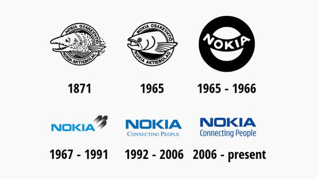 Logo Nokia đã thay đổi hoàn toàn so với thuở sơ khai. (Ảnh: Zing)