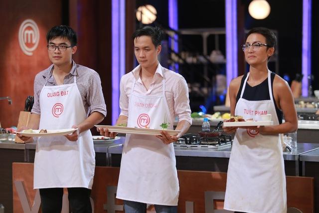 Quang Đạt, Thanh Cường và Phạm Tuyết có món ăn ngon nhất trong thử thách thứ 2.