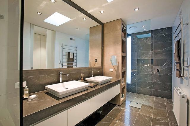 Một phòng tắm với vẻ đẹp hiện đại, trẻ trung