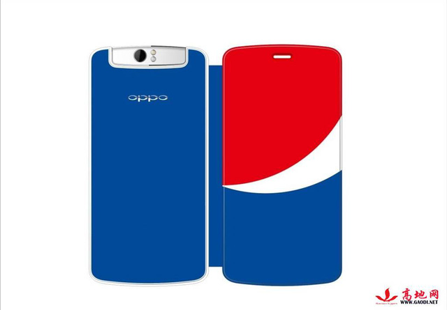 Oppo N1 phiên bản đặc biệt với ốp lưng và logo Pepsi