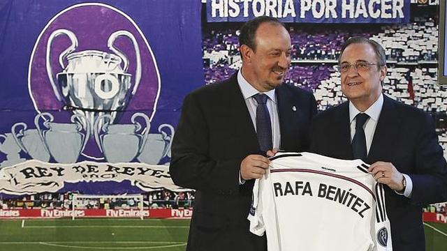 Rafa Benitez, HLV thứ 11 mà chủ tịch Florentino Perez đưa về Real Madrid trong 12 năm qua