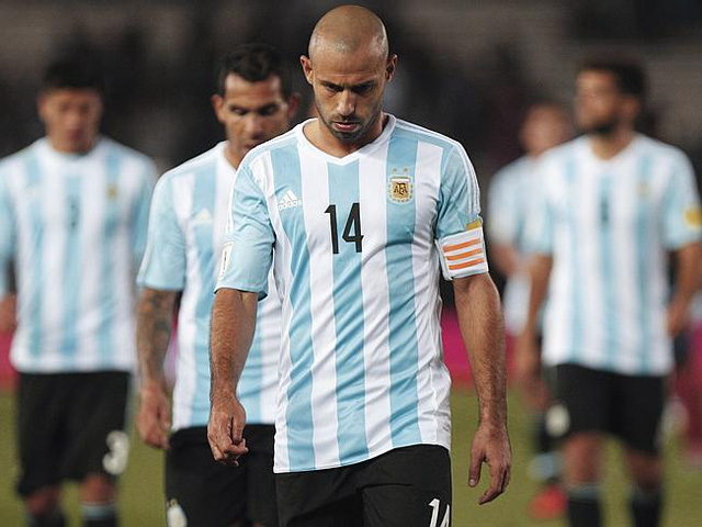Argentina đang đứng trước nguy cơ vắng mặt tại World Cup 2018