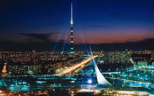 Tháp Ostankino, Matxcova, Nga cao 540,1m, khánh thành năm 1967 - Ảnh: minaberksan.com.