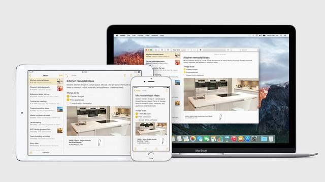 Phiên bản nâng cấp của ứng dụng Notes sẽ có mặt trên các thiết bị iOS và Mac