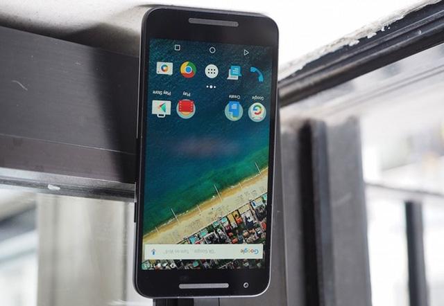 Ảnh chụp từ ứng dụng bên thứ ba trên Nexus 5X bị lộn ngược