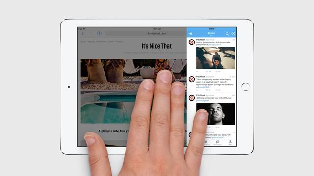 Người dùng có thể sử dụng tính năng Slide Over để mở ứng dụng bên cạnh