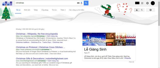 """Hình nền trên trang kết quả tìm kiếm cụm từ """"Christmas"""""""